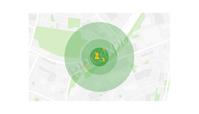 which client would you advise to use radius targeting?