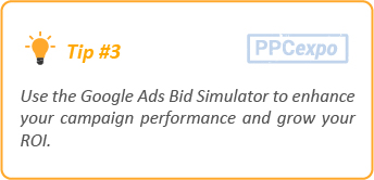 google ads bid simulator tip