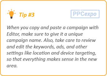 google ads editor tips